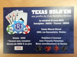 Charity Poker Tournament in Verdun