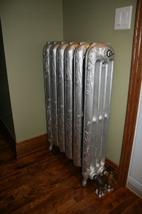 Water heating radiator